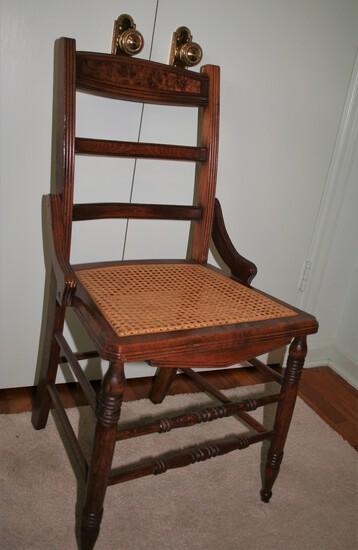 Wicker Bottom Wood Chair