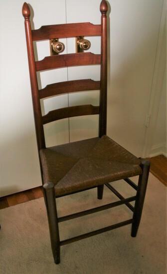Wicker Bottom Ladder Back Chair