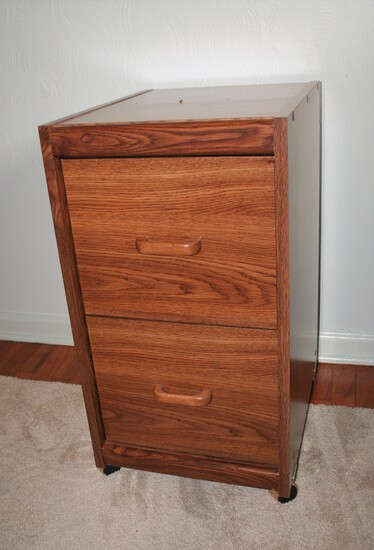 Rolling Filing Cabinet