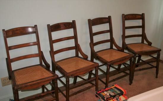 Ladderback Wicker Bottom Chairs