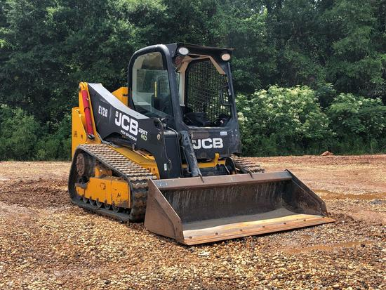 JCB 225T ECO MULTI TERRAIN LOADER, OROPS, RUBBER TRACKS, AUX HYDRAULICS, 72? LOW PRO SMOOTH BUCKET