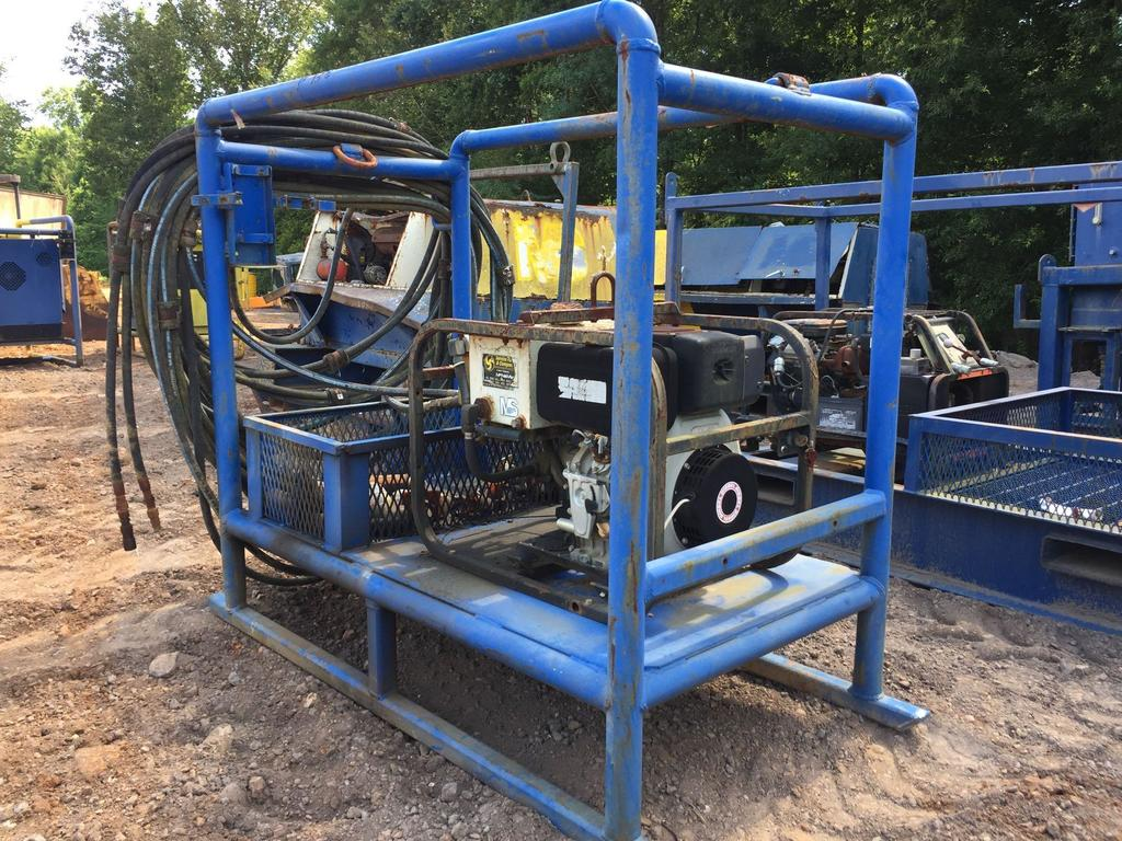 Lot: SKID MOUNTED HYDRAULIC PUMP, YANMAR DIESEL ENGINE, S/N