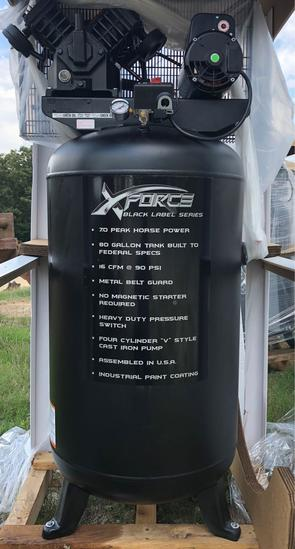 NEW/UNUSED XFORCE 80 GALLON AIR COMPRESSOR