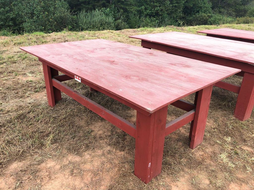 Lot 4x8 Wooden Table Proxibid Auctions