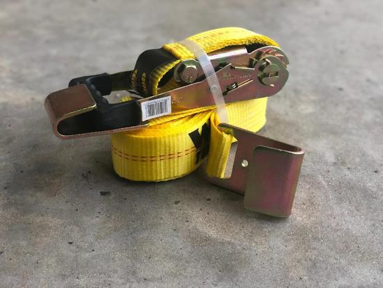 "2"" X 27' RATCHET TIE DOWN FLAT HOOK"