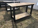 30X60 HEAVY DUTY SHOP TABLE, BOTTOM SHELF