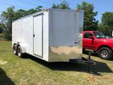 NEW 2019 7.5X16 ENCLOSED UTILITY TRAILER