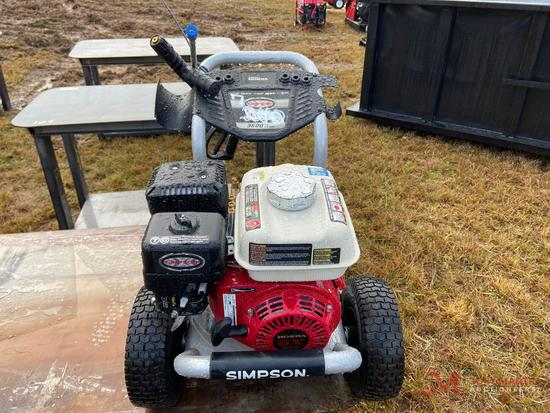 NEW SIMPSON 3600 PSI PRESSURE WASHER, 2.5 GPM, HONDA GX200 GAS ENGINE