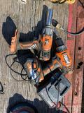 (2) RIDGID BATTERY POWERED DRILLS, 1 BATTERY 1 CHARGER