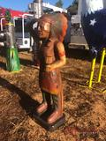 3.5' WOODEN INDIAN