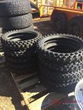 PALL OF (11) VARIOUS SIZE DIRT BIKE TIRES
