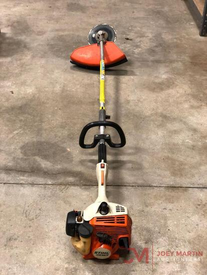STIHL KM55R ECONOMY SYSTEM, GAS ENGINE, SAW BLADE WEED EATER ATTACHMENT, EDGER ATTACHMENT, TILLER