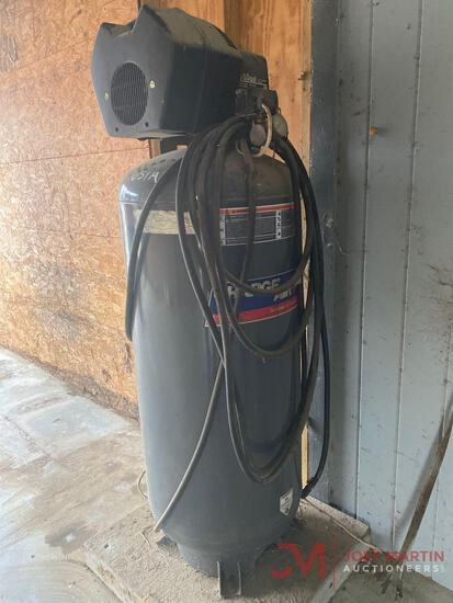 CHARGE AIR 60 GALLON STAND UP AIR COMPRESSOR, 125 PSI, 6HP ELECTRIC MOTOR