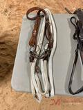 BROW BAND HEADSTALL, O RING SNAFFLE BIT, COTTON SPLIT REINS