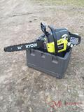 RYOBI GAS POWERED CHAIN SAW