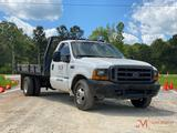 2000 FORD F350 XL S.D. FLATBED DUALLY