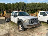 2005 FORD F450 XL S.D. FLATBED DUALLY