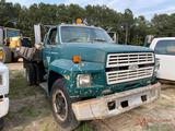 1989 FORD F600 S/A DUMP TRUCK