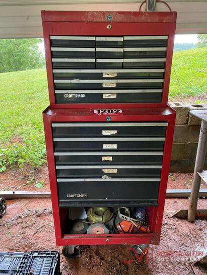 17 DRAWER 2 PIECE TOOL CHEST W/ VARIOUS TOOLS