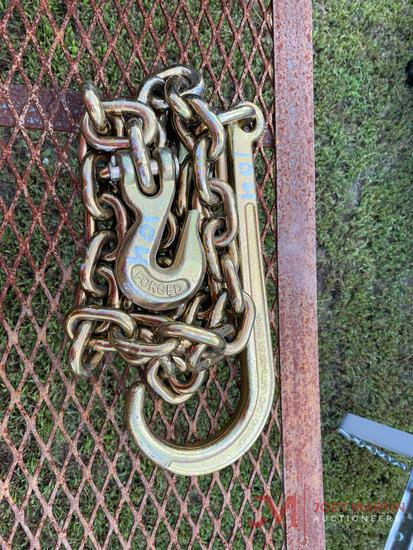 "NEW 5' J HOOK 1/2"" CHAIN"