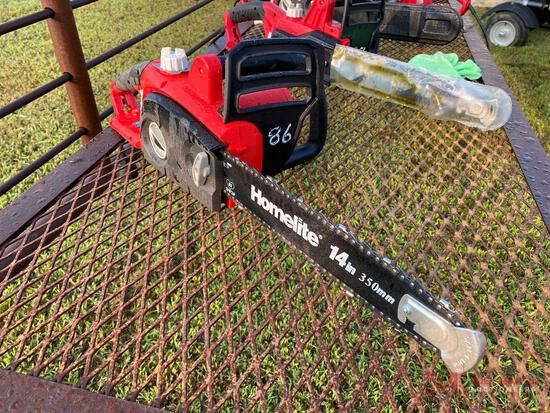 HOMELITE 14 INCH ELECTRIC CHAIN SAW