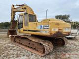 DEERE 230LC HYDRAULIC EXCAVATOR, SN 60074, ENCLOSED CAB, HYD THUMB, HRS SHOWING 0807
