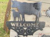 COW/CALF WELCOME SIGN