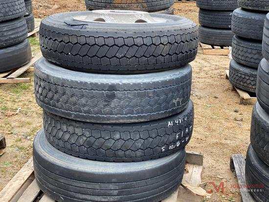 (4) 22.5 WHEELS AND TIRES