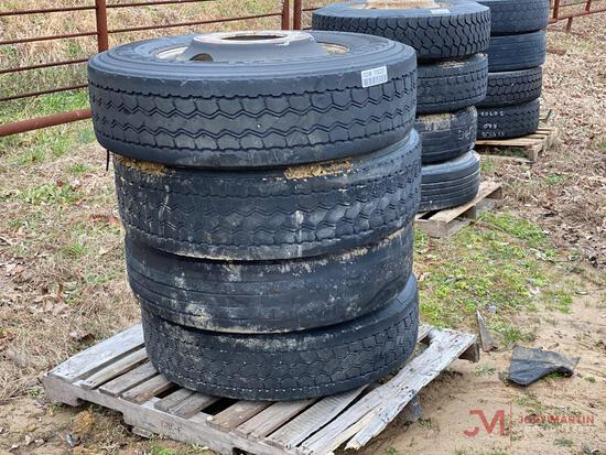 4 22.5 TIRES AND WHEELS