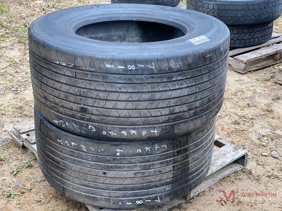 2 MICHELIN 445/50 22.5 TIRES