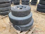 (2) 22.5 WHEELS AND TIRES, 245/75/R17 TIRE AND WHEEL