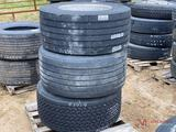 3 445/50 22.5 TIRES WITH ALUMINUM WHEELS