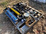 MISC. TRUCK & TRAILER PARTS, SHOCKS, TORCH ROD, TIRE TOOL