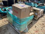 BRAKE DRUMS, PADS, OIL BUCKET WITH HAND PUMP
