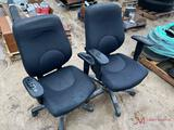 (2) ROLLING OFFICE CHAIRS