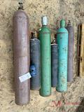 (6) VARIOUS COMPRESSED GAS TANKS