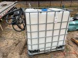 400 GALLON PLASTIC TANK EITH ELECTRIC PUMP