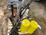 PIPE CUTTER STANDS, FUEL CANS, ELECTRIC DRILL, SPRAYER