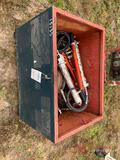 (8) PORTA POWERS, CHAIN HOIST, METAL BOX