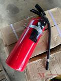 NEW FIRE EXTINGUISHER WITH METAL STRAP BRACKET