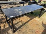 NEW 90IN HEAVY DUTY SHOP TABLE, BLACK