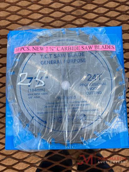 NEW 10PCS 7 1/4? CARBIDE SAW BLADES