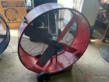 NEW MAXX AIR 42IN SHOP FAN, 2 SPEED, 8FT CORD, RED