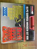 NEW GRIP 15PC METRIC SERVICE WRENCH SET, 20MM-36MM