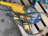 DEWALT ELECTRIC DRILL AND ELECTRIC POWERED GRINDER