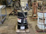 GREASE DRUM WITH AIR POWERED PUMP AND CART