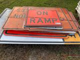 PALLET OF ALUMINUM ROAD SIGNS