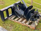 NEW HYDRAULIC AUGER SKID STEER ATTACHMENT