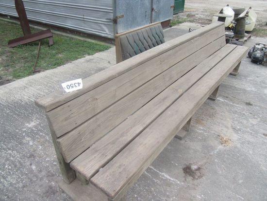 (4350) 12' Wooden Bench & 5' Bench