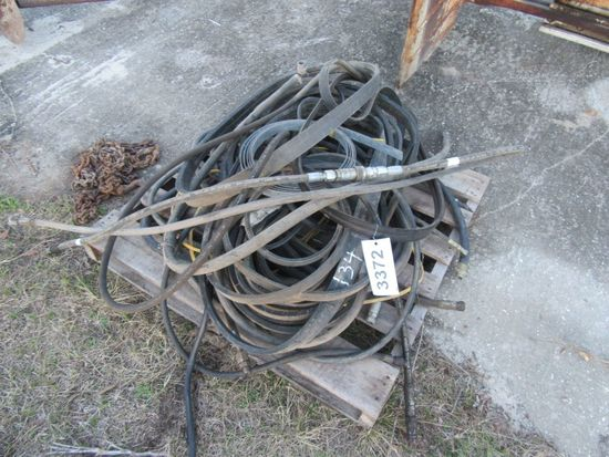 (3372)  Pallet of Drive Belts & Hydraulic Hoses